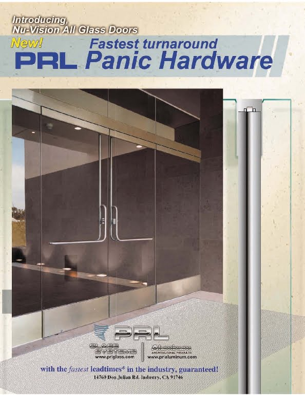 NEW! Glass Door Panic Systems PL 100 and PL 110 Series.