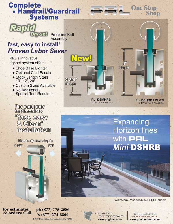 PRL is proud to introduce our new Rapid low profile handrail base.