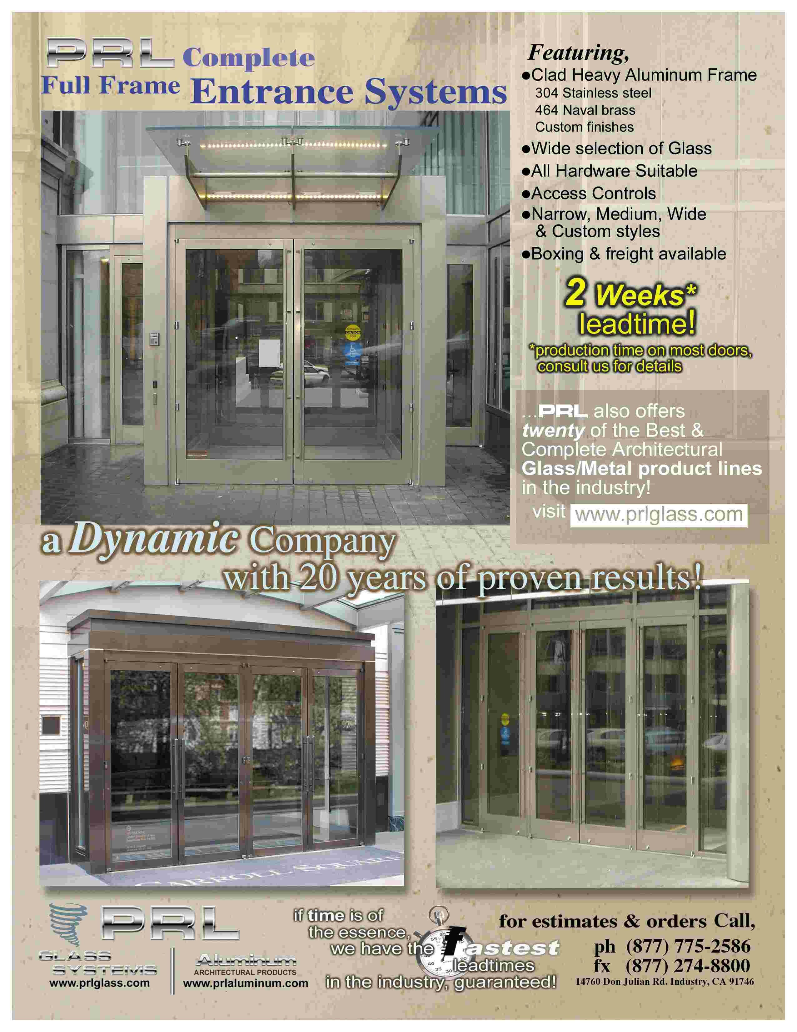 Aluminum and Glass Storefront Systems