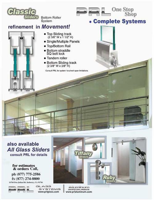 Custom All Glass and Aluminum Sliding Door Systems