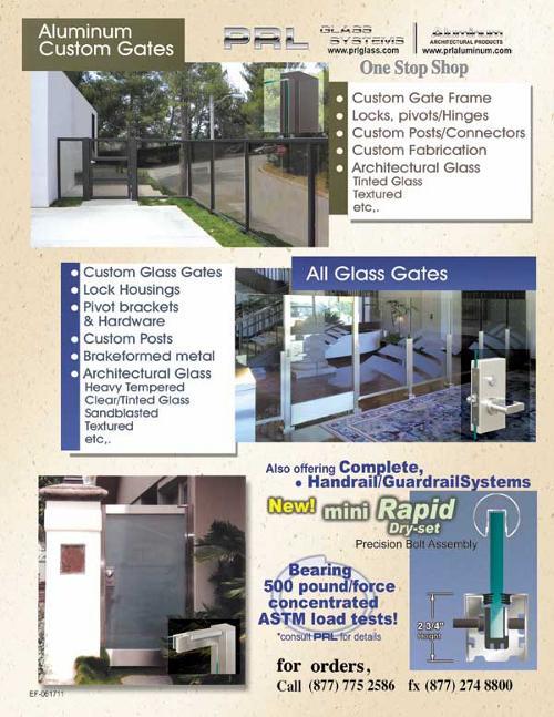 Custom Aluminum and Glass Gates
