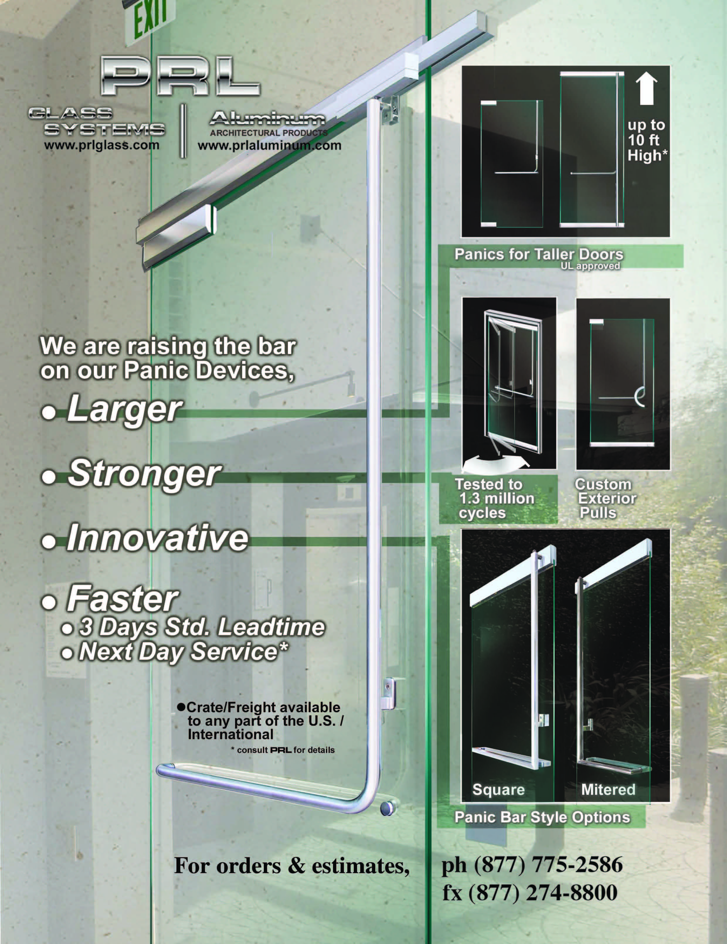 Glass Door Exit Device Hardware Prl Architectural Glass And Metal News