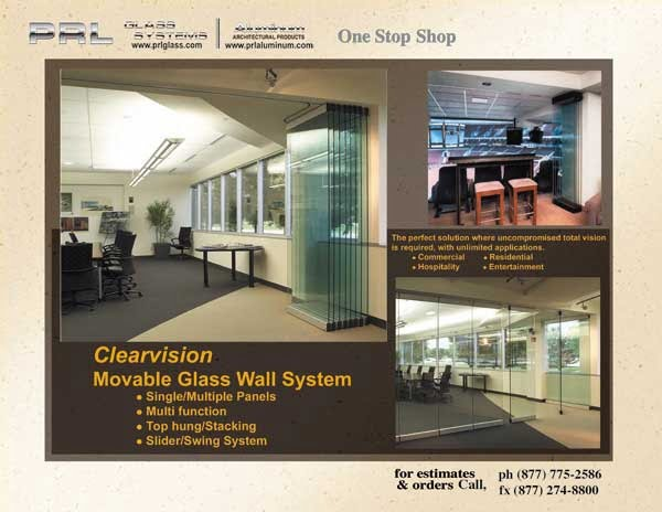 Clearvision – Stacking Movable All Glass Wall System