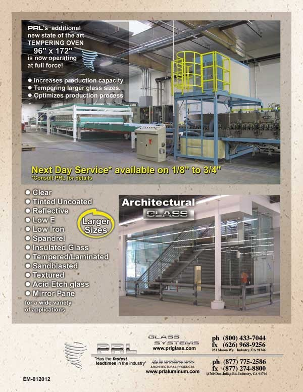 Leading Tempered Glass Fabricator in So. California