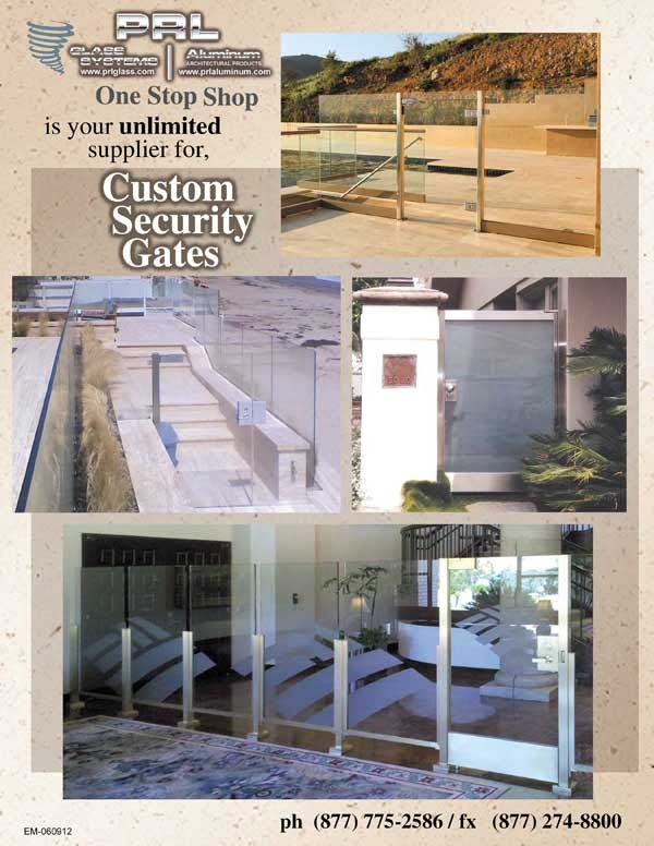Custom Glass and Metal Security Gates