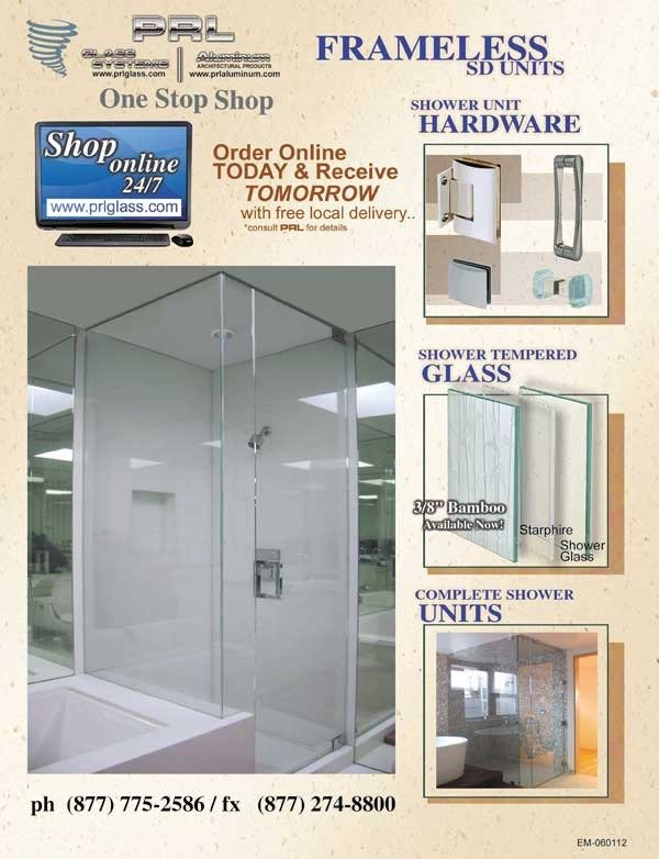 Frameless Shower Enclosures by PRL Glass Systems, Inc.