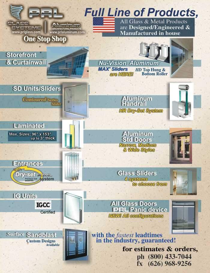 Full Line of Architectural Glass and Metal Products