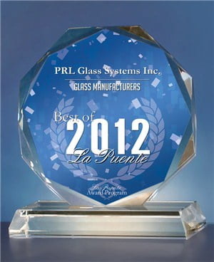 2012 Best of La Puente Award in the Glass Manufacturers category!