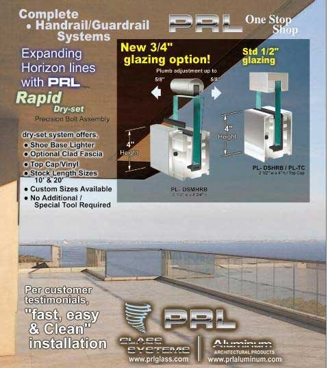 "New ¾ "" Rapid Dry or Wet Set Railing System"