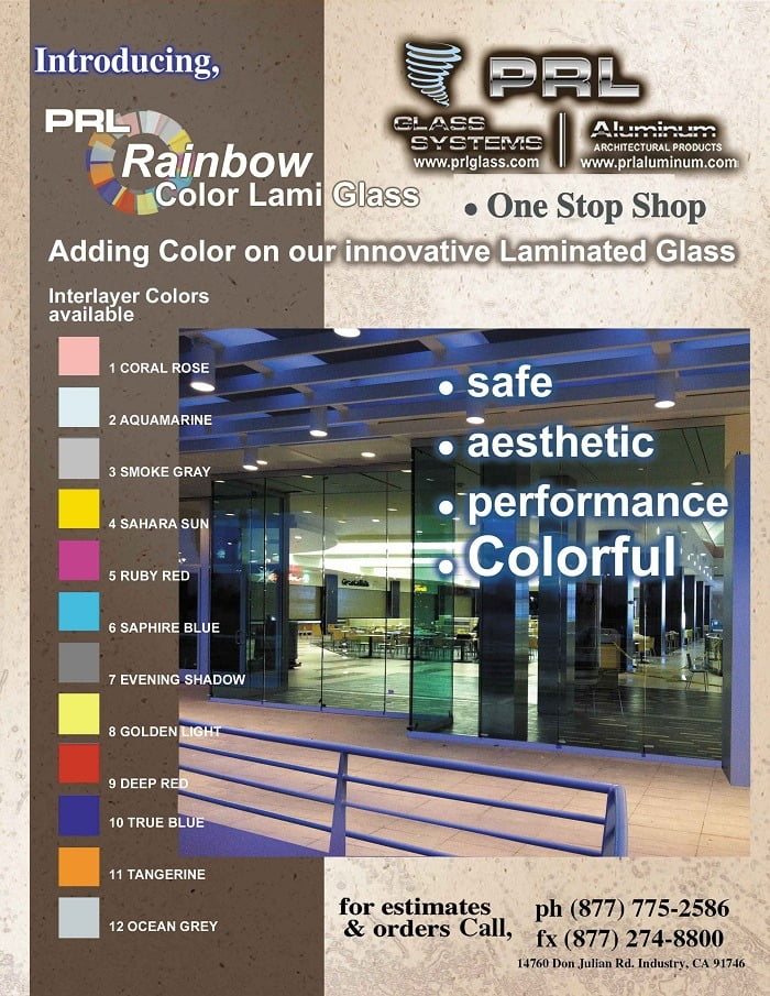 NEW 13 Rainbow Interlayer Colors for Laminated Glass
