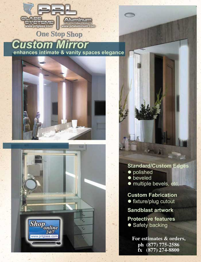Custom Fabricated Mirrors