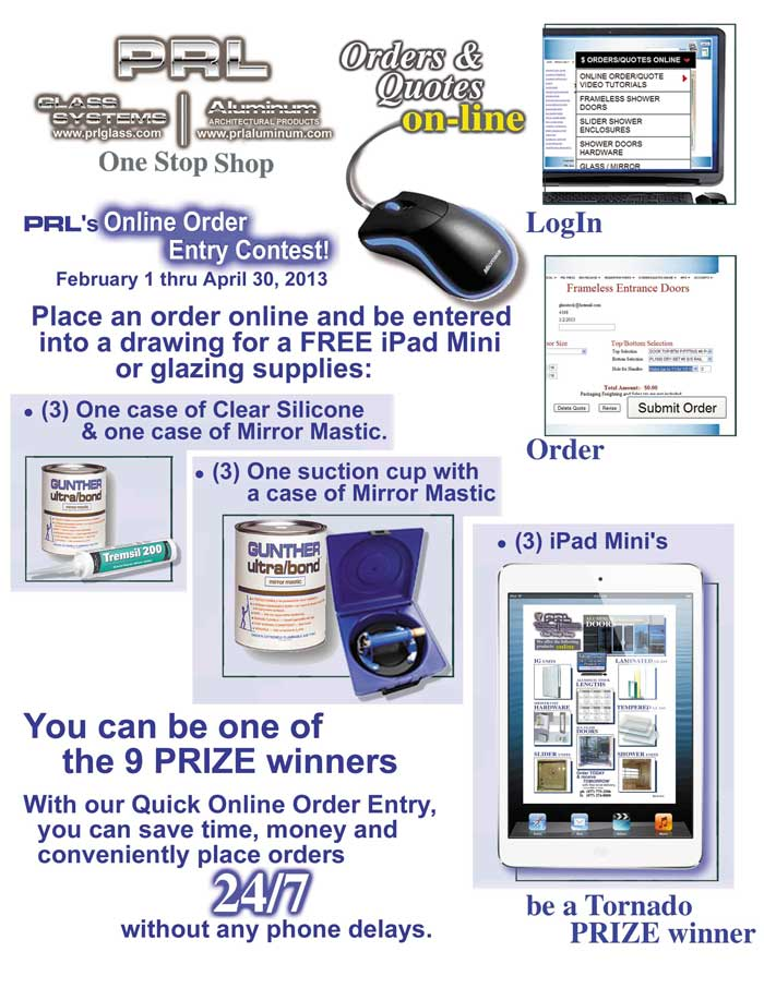 Buy Online and qualify to win an ipad Mini