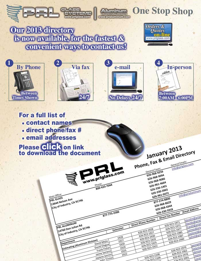 PRL New direct fax numbers