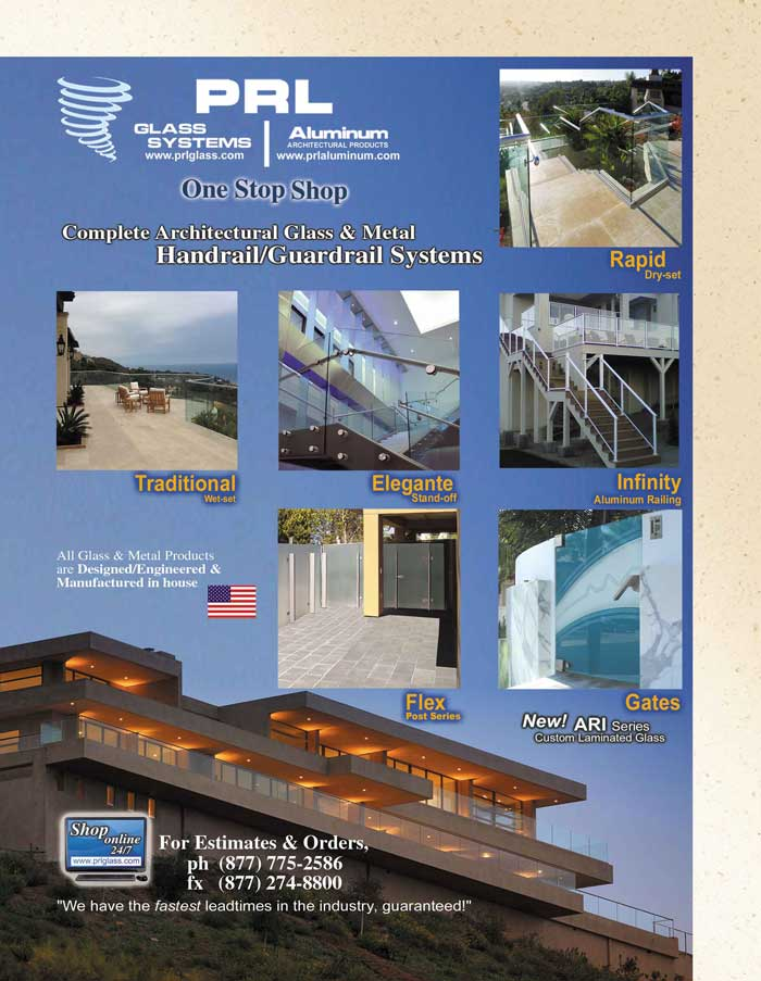 Complete glass & metal railing systems