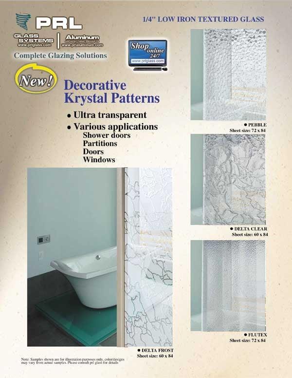 New 4 Krystal Texture Glass Patterns (Low Iron)
