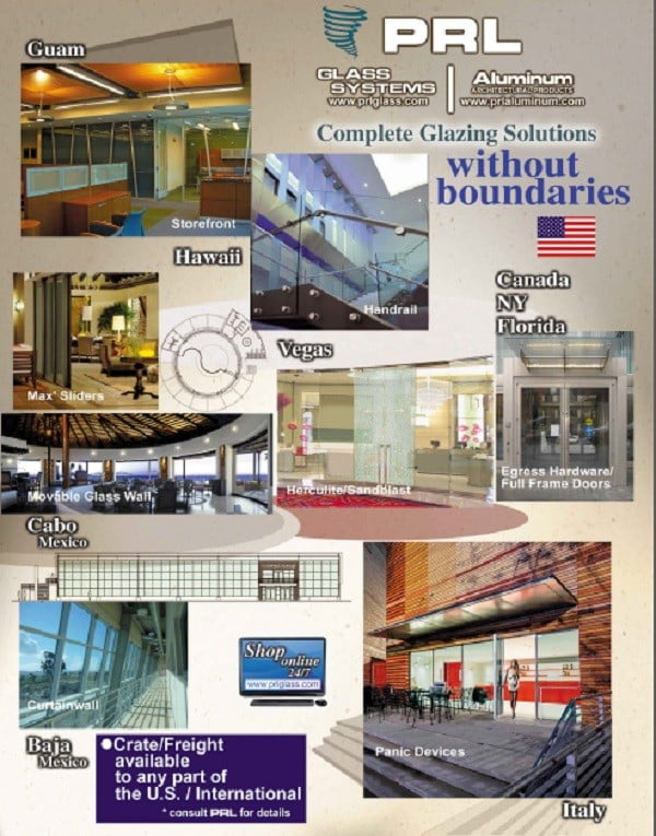 PRL's Complete Glazing Solutions Go International