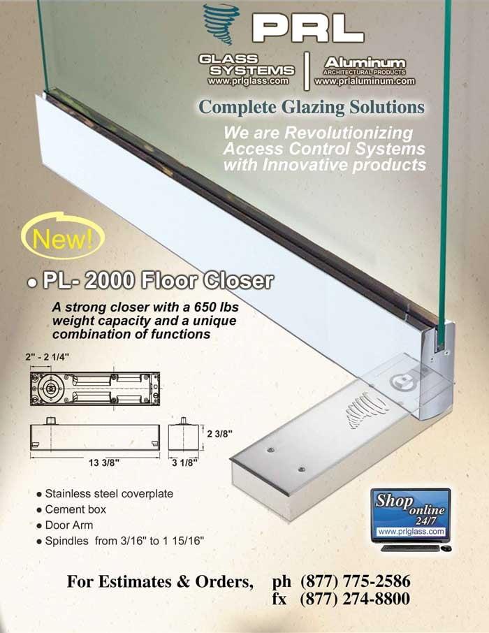 New PL-2000 HD Floor Closer