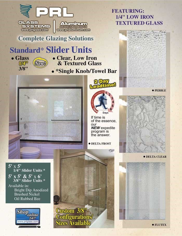 1/4″ & 3/8″ Frameless Glass By-Pass Doors