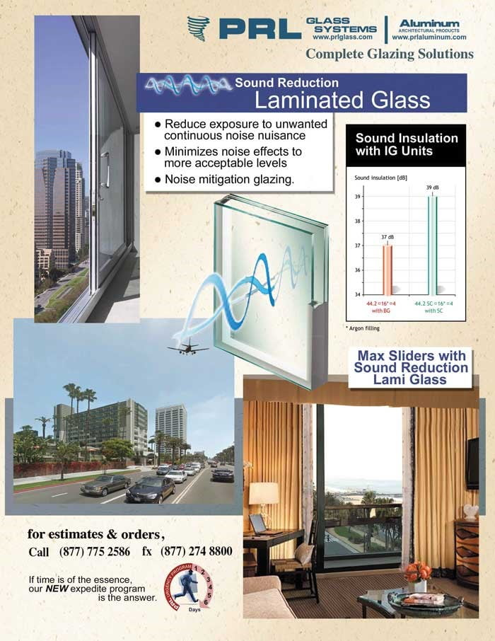 Laminated Safety Glass With Sound Control