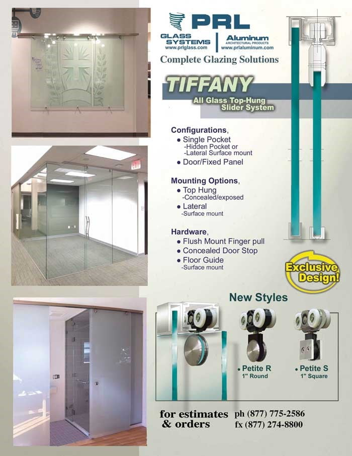 Tiffany Top Hung Interior Sliding Glass Door System