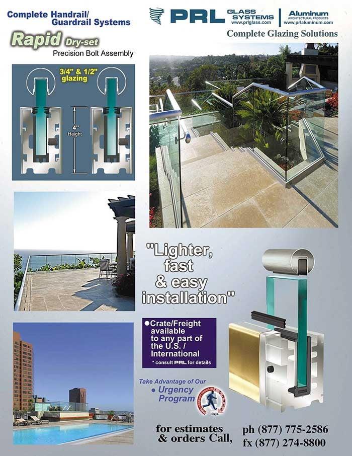 "PRL's Rapid-Set Handrail Base for ¾"" Glass"