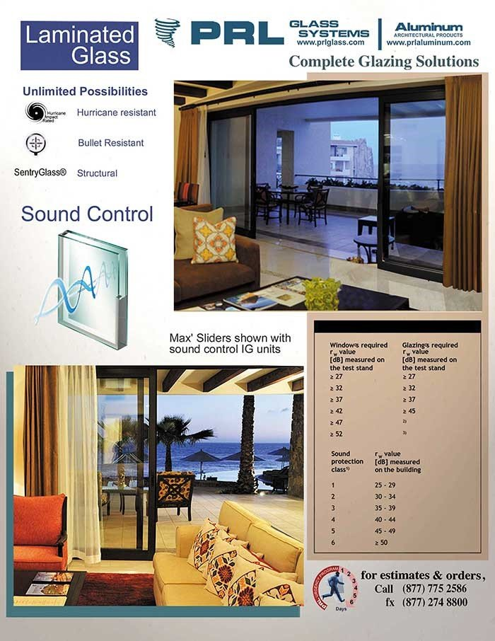 Sound Control Laminated Glass