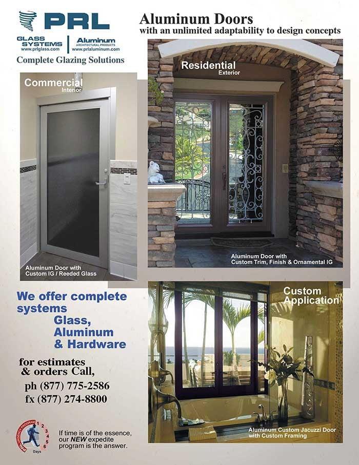 Aluminum Glass Door Manufacturer Pre Glazed Saving You Labor Costs