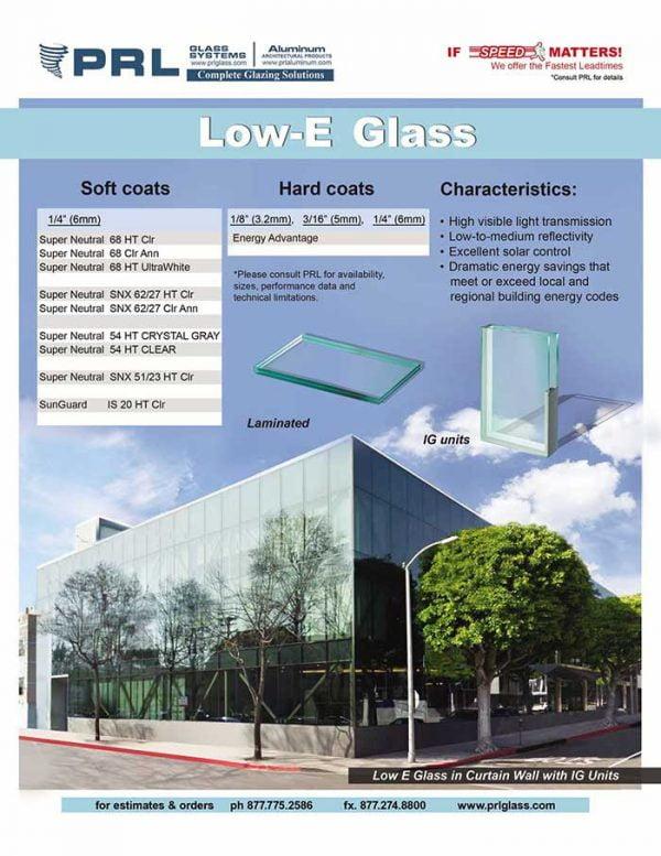 PRL Low-E Architectural Glass