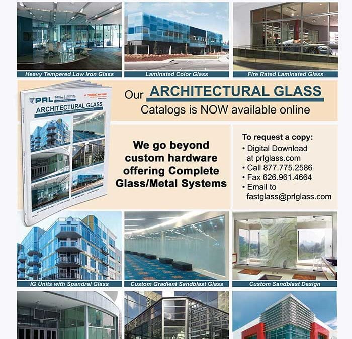 Don't Miss Out on PRL's New 2018 Architectural Glass Catalog! Download Yours Now!