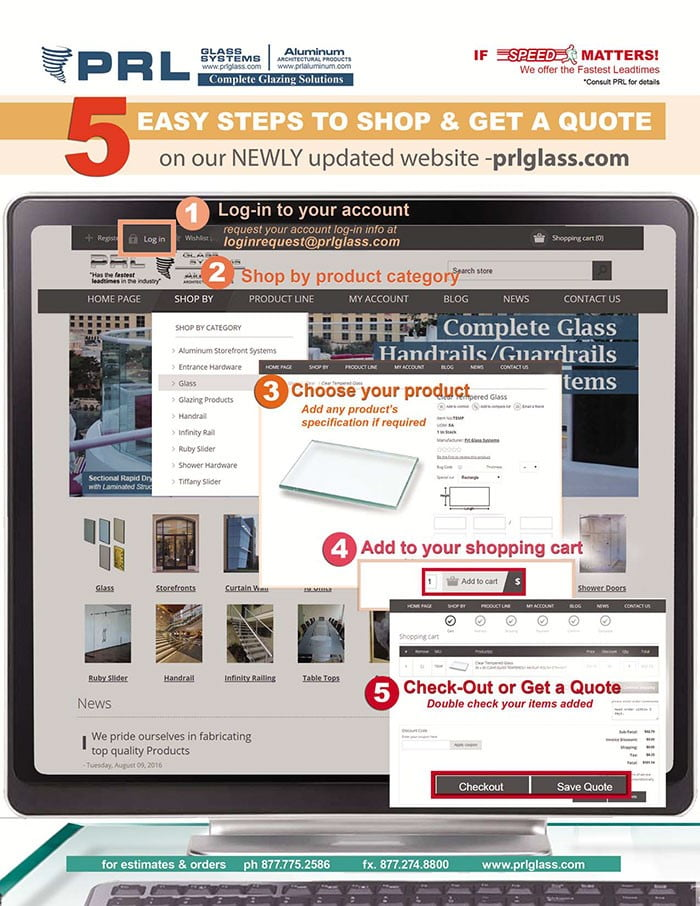 5 EASY STEPS TO SHOP & GET A QUOTE: