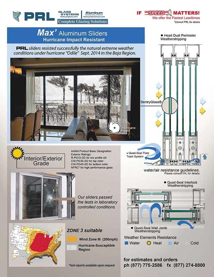 Max Slider Hurricane Impact Resistant Doors