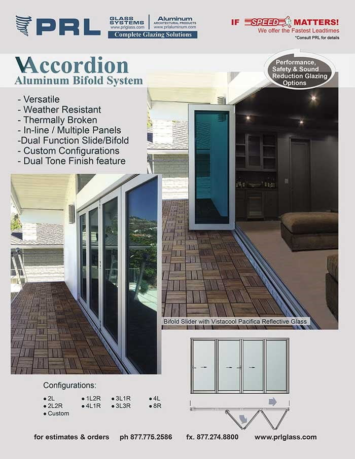 PRL Aluminum Bi-Fold Accordion Doors