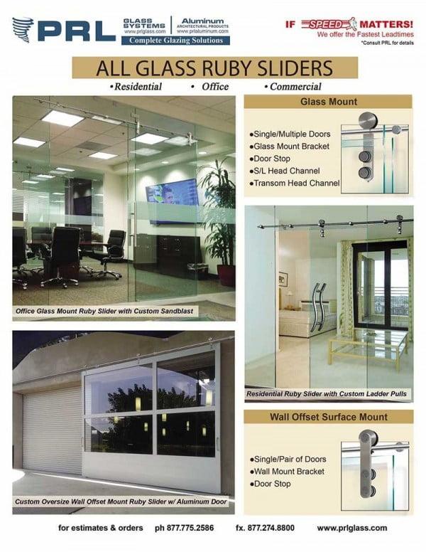 ruby all glass sliding door system