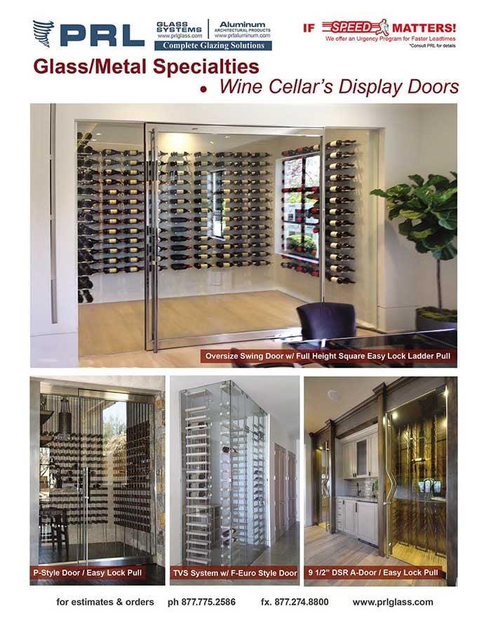 PRL Specialty Doors – Wine Cellar Display Doors