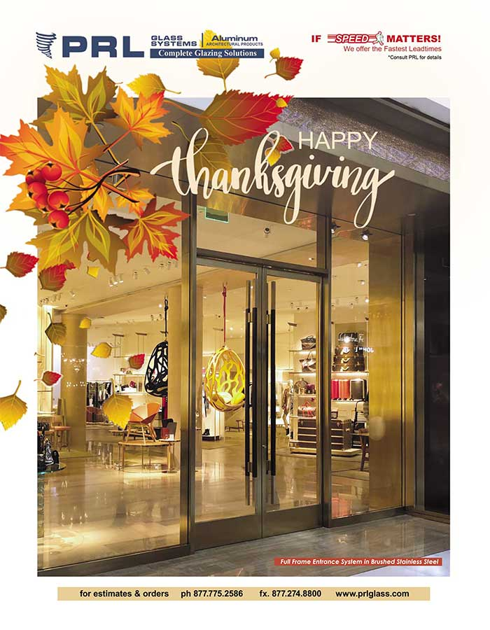 Thanksgiving Wishes from PRL Glass & Aluminum