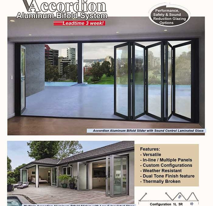 PRL's Accordion Bifold Door Systems, One of Our Top Sellers!