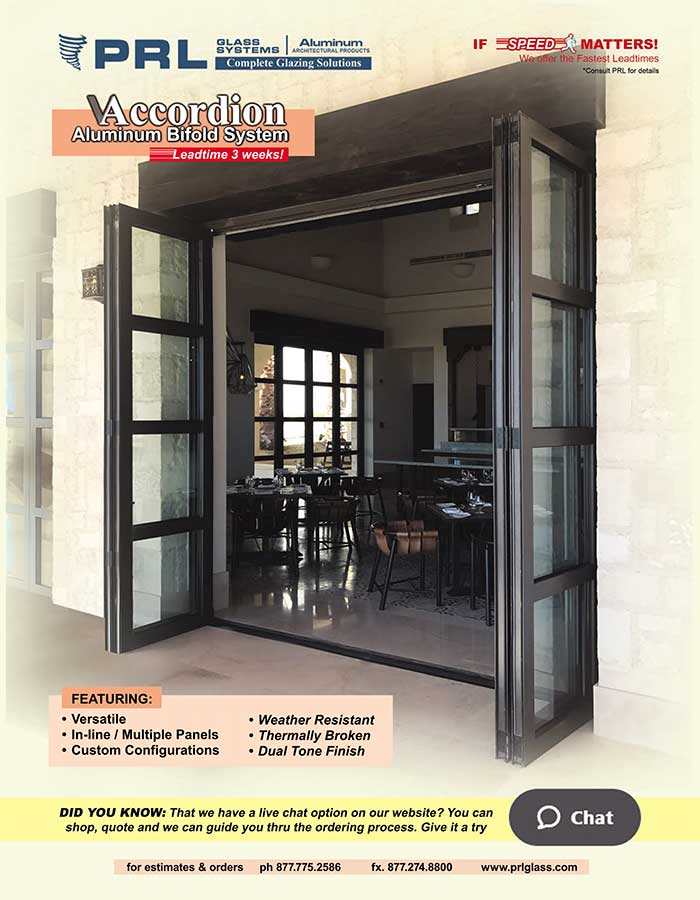 Accordion Bifold Doors. Get It All At PRL! Beauty, Energy Efficiency, & Space Saving Designs!