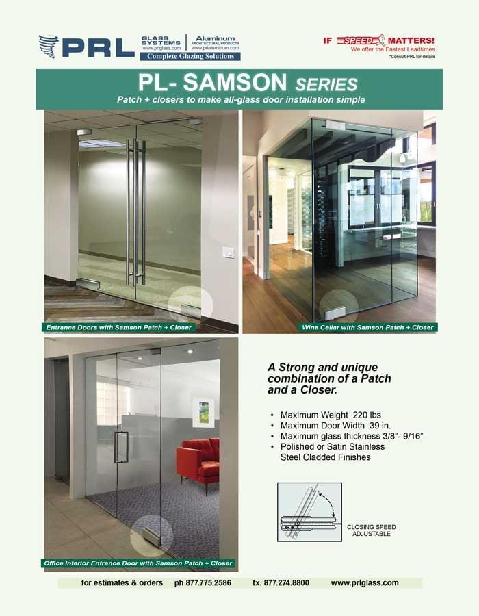 All-Glass Door Samson Patch Closer