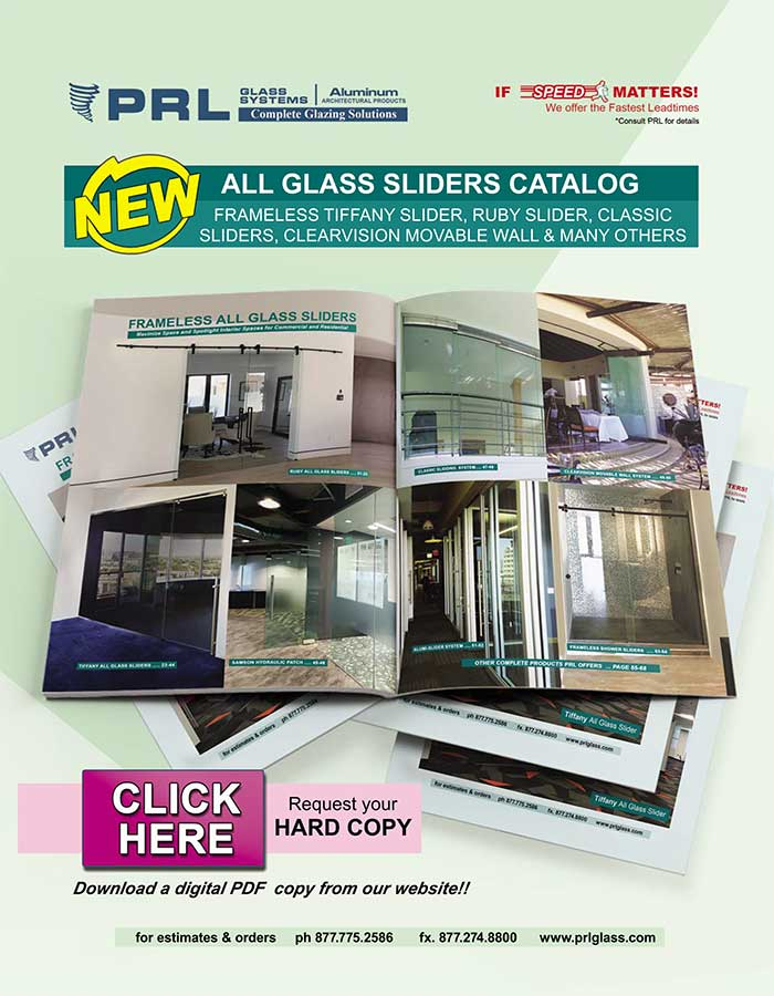 PRL's New All-Glass Slider Catalog. Make Shopping Easy! Download Yours Now!