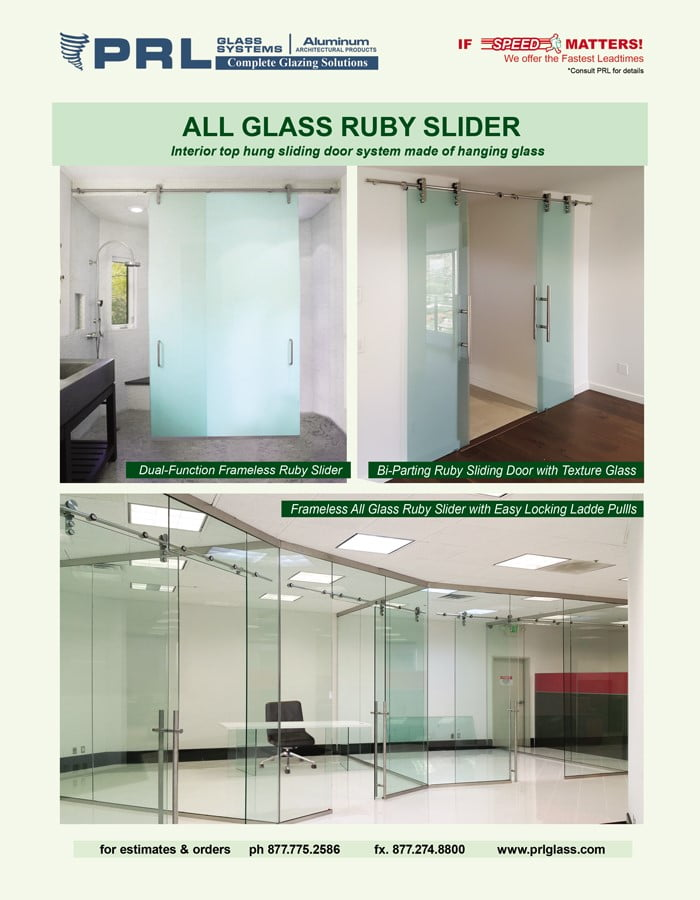 Buy Ruby All-Glass Sliding Doors Space Saving Interior Doors with Limitless Views!