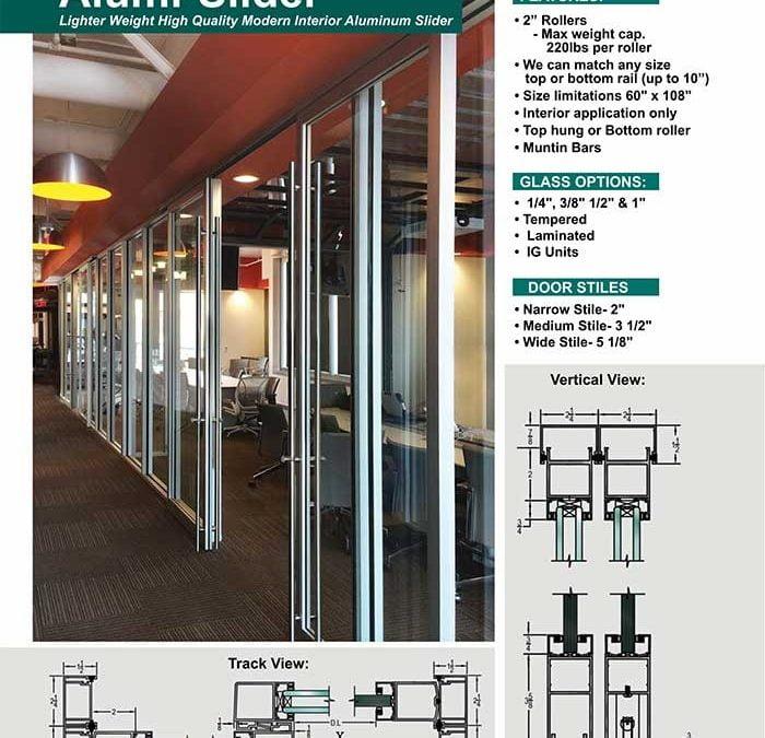 PRL's Alumi-Sliders Modern Interior Aluminum Sliding Door Systems