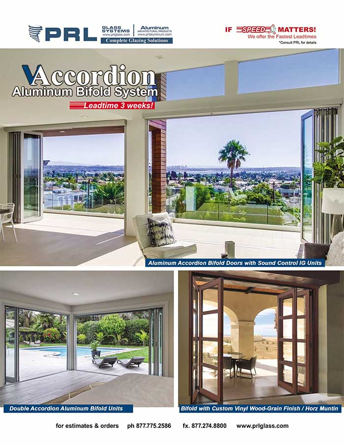 Aluminum Accordion Bifold Door Systems. Space Saving Designs & Vast Finishes at PRL