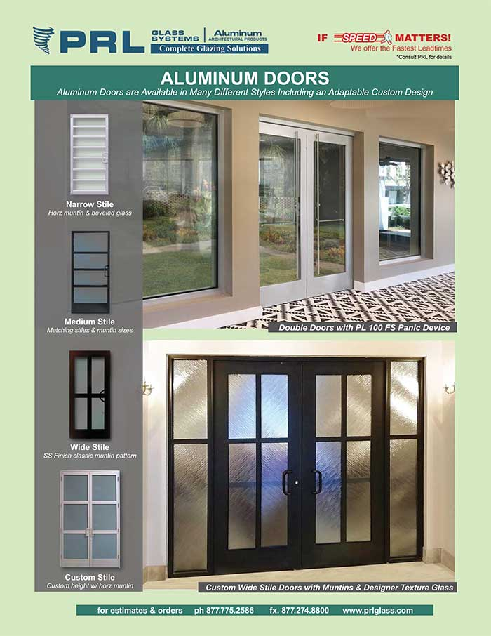 aluminum entry doors