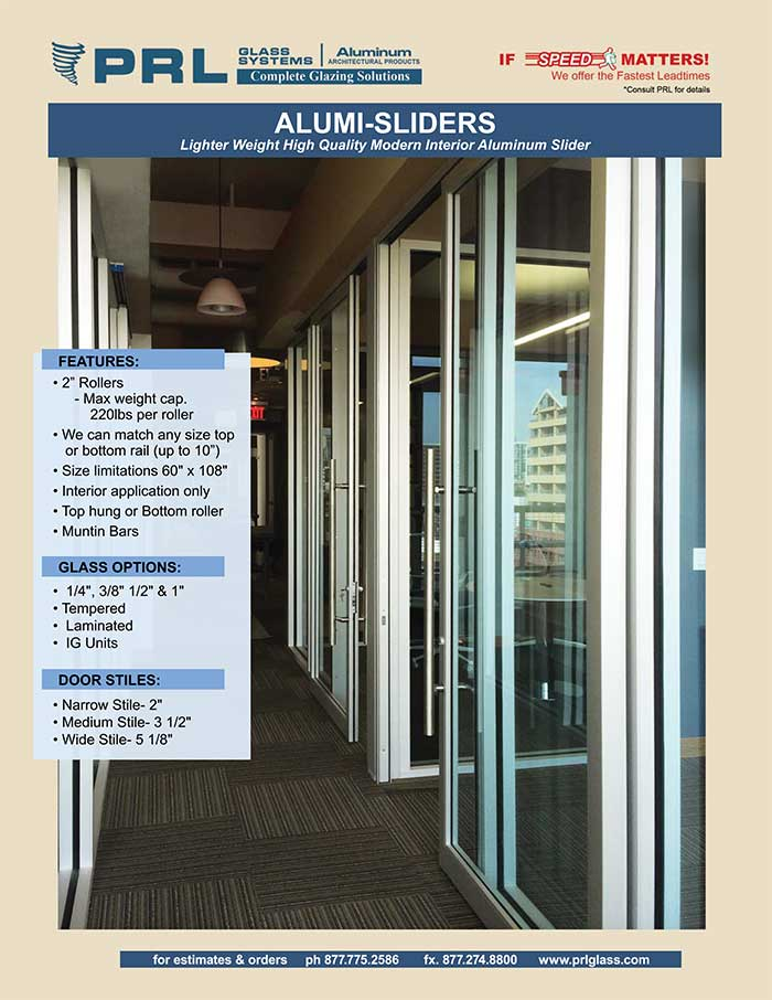Interior Sliders. Find Out Why PRL's Aluminum Sliding Doors Are So Popular