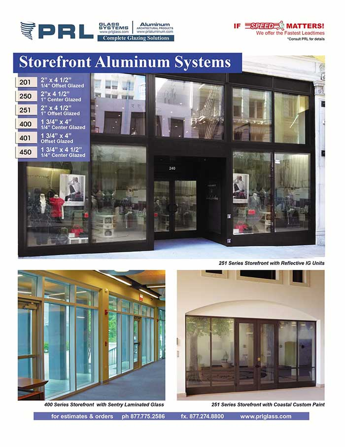 Your Single Source Supplier for Aluminum Storefronts