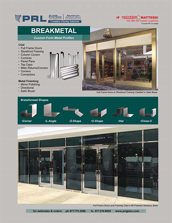 architectural break metal products