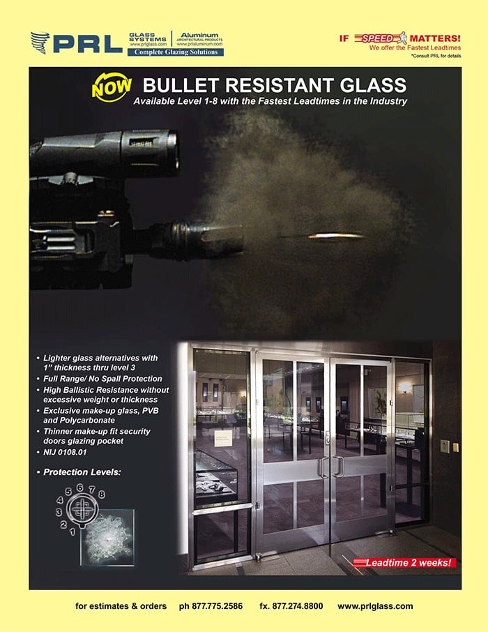 Bullet Resistant Glass Now Tested Up to Level 8 Ammunitions at PRL!