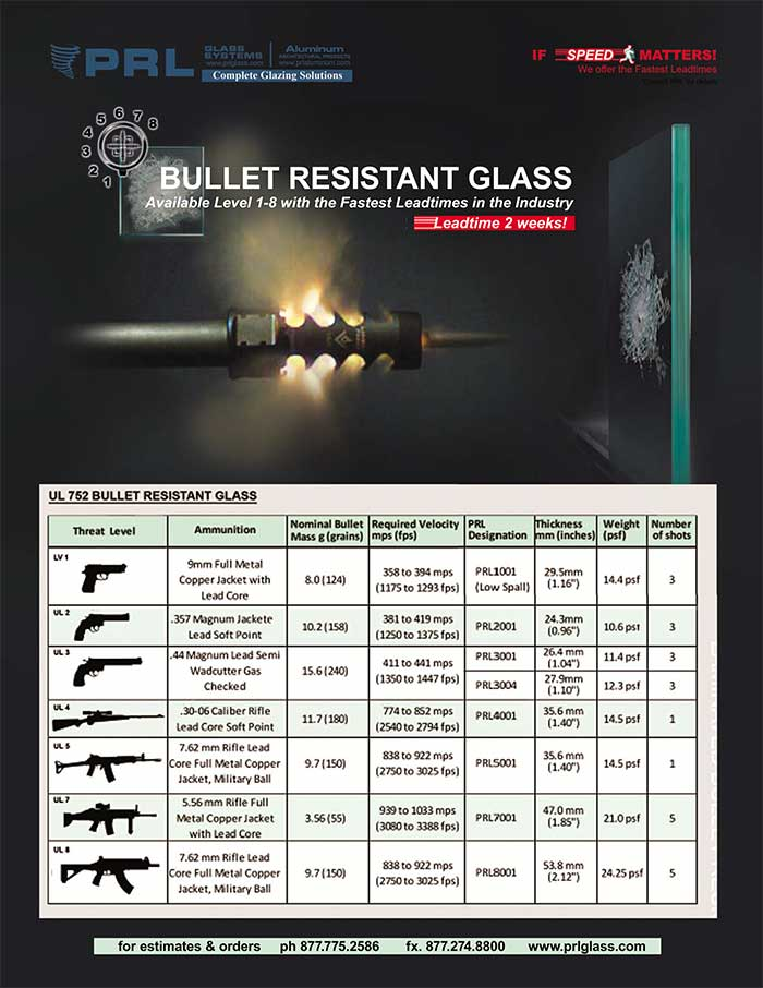 Bullet Resistant Glass Laminates. Stay Protected With PRL
