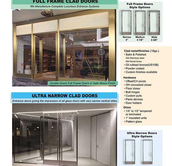 PRL's Aluminum Full Framed Clad Doors & Ultra Narrow Clad Doors.