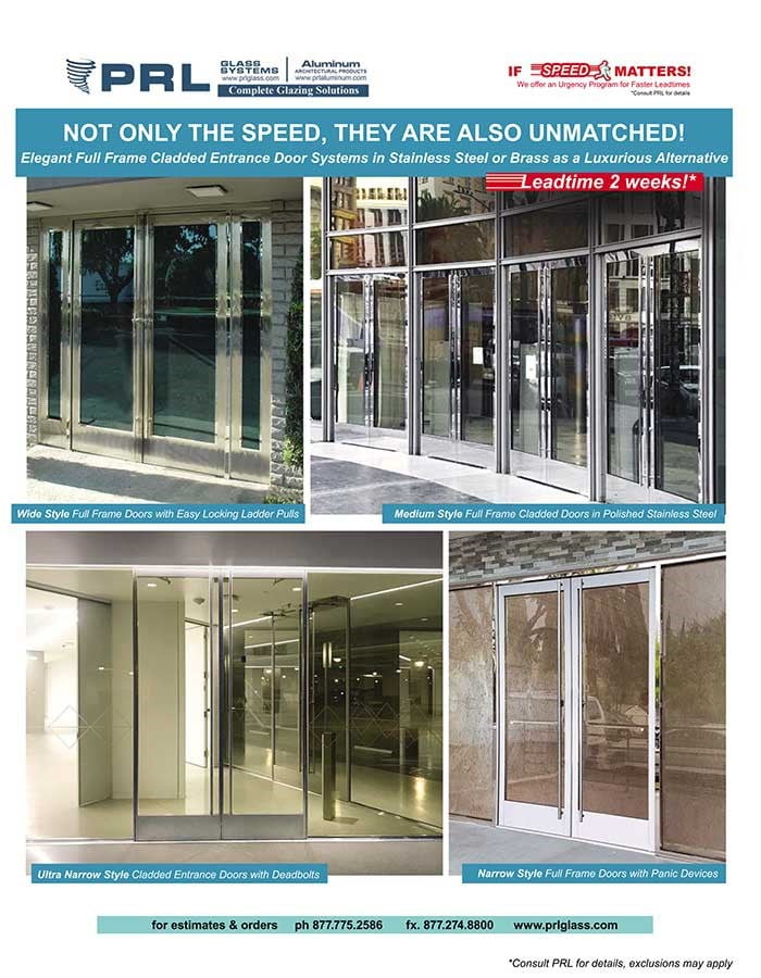 cladded entrance door systems